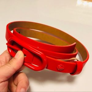 Anne Klein Classic Leather red belt